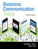 Bovée - Thill: Business Communication Today
